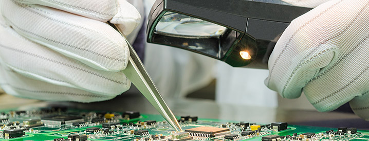 Quality control in electronics manufacturing is critical.
