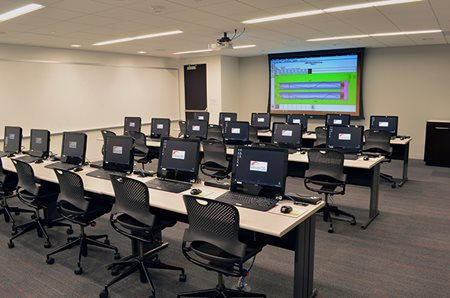 Training room for Statistical Process Control software